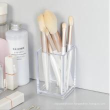 Variable Wholesale Support Custom Gossy Elegant Square Plastic Clear Acrylic Desk Pen Holder