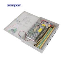 SOMPOM CCTV Box 12V 10A 18CH Switch 120W Power Supply for cctv camera