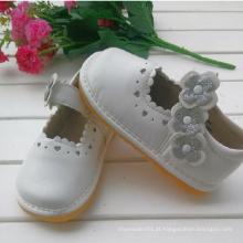 Sliver Flower White Children Girl Shoes Soft Shoes