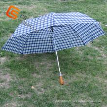Manche en bois deux grands pli, parapluie (YS-2F2001A)