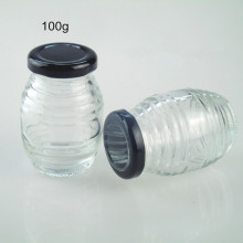100g Mini Clear Honey Glass Jar with Metal Lid Wholesale