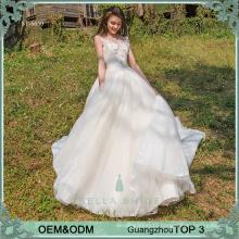 Champagne wedding dresses gowns bride dress ruffle lace ball gown wedding dress 2017 cinderella bridal dress