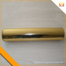 metallized PET film gold color 18 micron