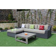 New Trendy Best Selling Modish Design Poly Synthetik PVC Rattan Daybed Sofa Set Für Outdoor Garten Wohnzimmer Wicker Möbel