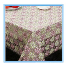 PVC Nt Lace Embroidered Table Cloth 132cm Width