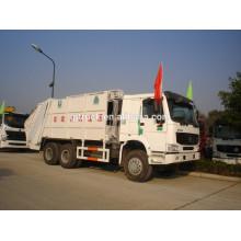 6x4 drive Sinotruk HOWO camión de basura / camión de basura compacto / howo camión de basura / camión comprimido