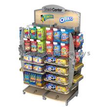 Mueble de metal marco Gancho de alambre Madera Estantería Suministros de exhibición al por menor Sweet Shop Candy Display Stands