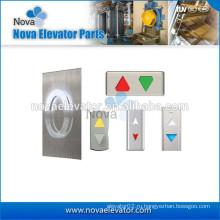 Фронт фонаря детализированного зала лифта вверх или вниз