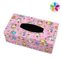 Linda rectángulo caja de tejido de cuero (zjh079)