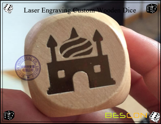 Laser Engraving Custom Wooden Dice-2