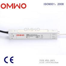 Fonte de alimentação impermeável do interruptor da tensão constante do diodo emissor de luz Wxe-20fs-24