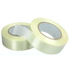 Fita de fibra de vidro para embalagem de aço de filamento cruzado reforçado bidirecional