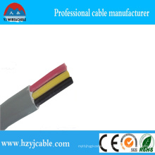 Grey Jacket 3 Cores Flat Sliod Copper Cable 3*1.5mm2