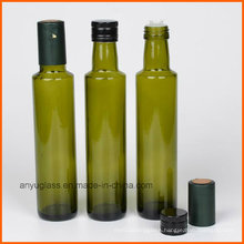 Round Olive Glass Bottles with Amber Green Clear Color