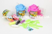 12-color play dough set with  barrel and tool bag