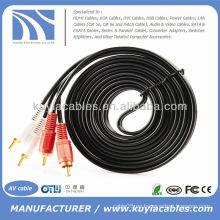 10FT 3m Dual 2 RCA a RCA Audio Video AV Cable para HDTV DVD estéreo Cable de audio