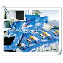 Tela de sábana de poliéster 3D / 4D / 5D / 7D design