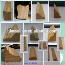 moulures décoratives de pensionnaires en bois / moulage de panneau recon / moulage de cadre de porte