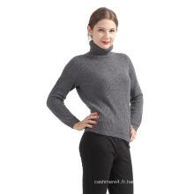 Meilleure vente style branché pull gris foncé