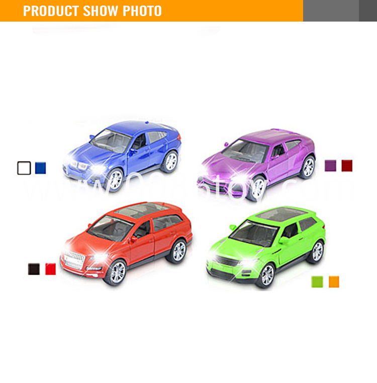 15CM Diecast toy pull back scale model car with light and music
