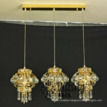 UL Listed Restaurant Pendant Lighting With Three Small crystal chandelier LT-73052