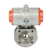 Válvula de esfera pneumática de tipo fino