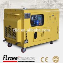 Generadores portátiles refrigerados por aire generadores diesel de 10kw / 12.5kva silenciosos