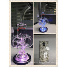 LED Light Four Blend Tube Recycle Glass Water Pipe Enjoylifeworld Hb-K1