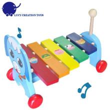 Puppy brinquedos de madeira xilofone