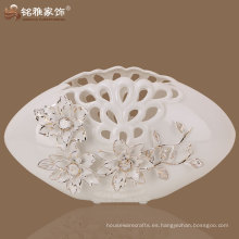 jarrón decorativo de porcelana plana de calidad superior de calidad superior