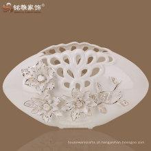 Vaso de porcelana de forma plana decorativa de qualidade superior