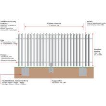 Cercado de empalizada (galvanizado o recubierto de PVC)