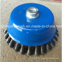 6inch alta calidad torsión nudo cuenco taza de cepillo (YY-587)