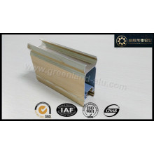 Perfil de alumínio para porta deslizante moldura com revestimento eletroforético cor de grão de madeira