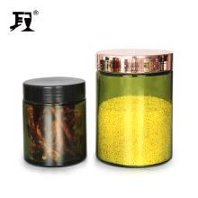 glass jar with screw top lid for herb food storage hot sale jars
