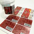 Design aduaneiro plástico à prova d'água vermelho bayberry rótulo de lanche de frutas secas