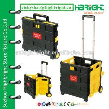 plastic folding pack&roll cart