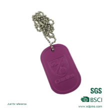 Cheap Wholesale Custom Metal Military Dog Tag with Rubber
