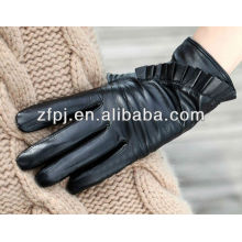fashion fishy style high quality womens winter leather gloves