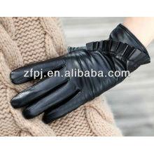Luvas de couro do inverno das mulheres da alta qualidade da forma fishy do estilo