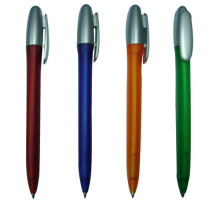 Twistable Ball Pen Silver Cap