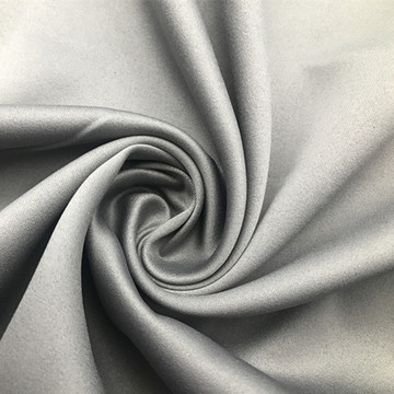 Smooth Grey Satin Stoff
