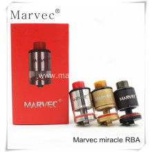China Gold Supplier for Dark Knight RDA Atomizer Marvec miracel brass/SS material vaporizer export to South Korea Factory