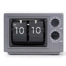 Kleiner Fernseher Grey Flip Clocks mit Licht