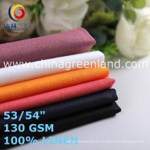 Algodão tecido de linho para vestuário têxtil (GLLML466)