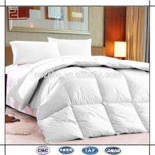 Cubierta superior del algodón de la calidad con el pato abajo rellenando edredones de la cama de la reina