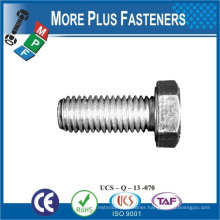 Made in Taiwan high quality carbon steel hex head screw machine screw hexagon screw