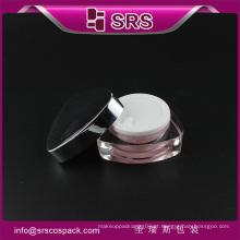 J080 frasco de creme de forma de triângulo, 30g 50g frasco de plástico de luxo vazio cosméticos
