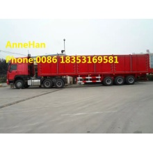 Container Flatbed Semi Trailer شاحنة