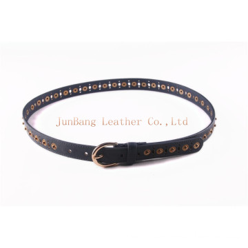 2016 Ladies PU Belt / Holes Elements Punched Belt with Snaps